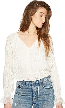 7890ed9b5d021 ASTR the Label Women s Lennon Top White Medium at Amazon Women s Clothing  store