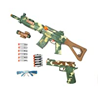 Kit Arma De Brinquedo Metralhadora E Pistola De Pressão Lança Dardos