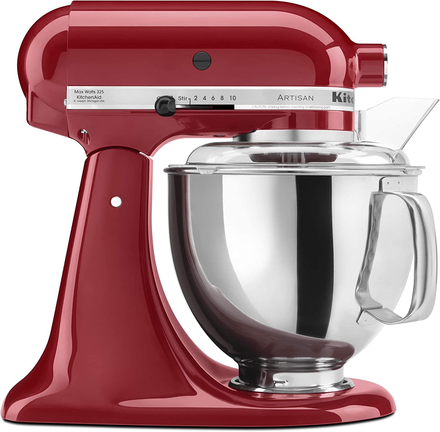 KitchenAid KSM150PSER Artisan Tilt-Head Stand Mixer with Pouring Shield,  5-Quart, Empire Red