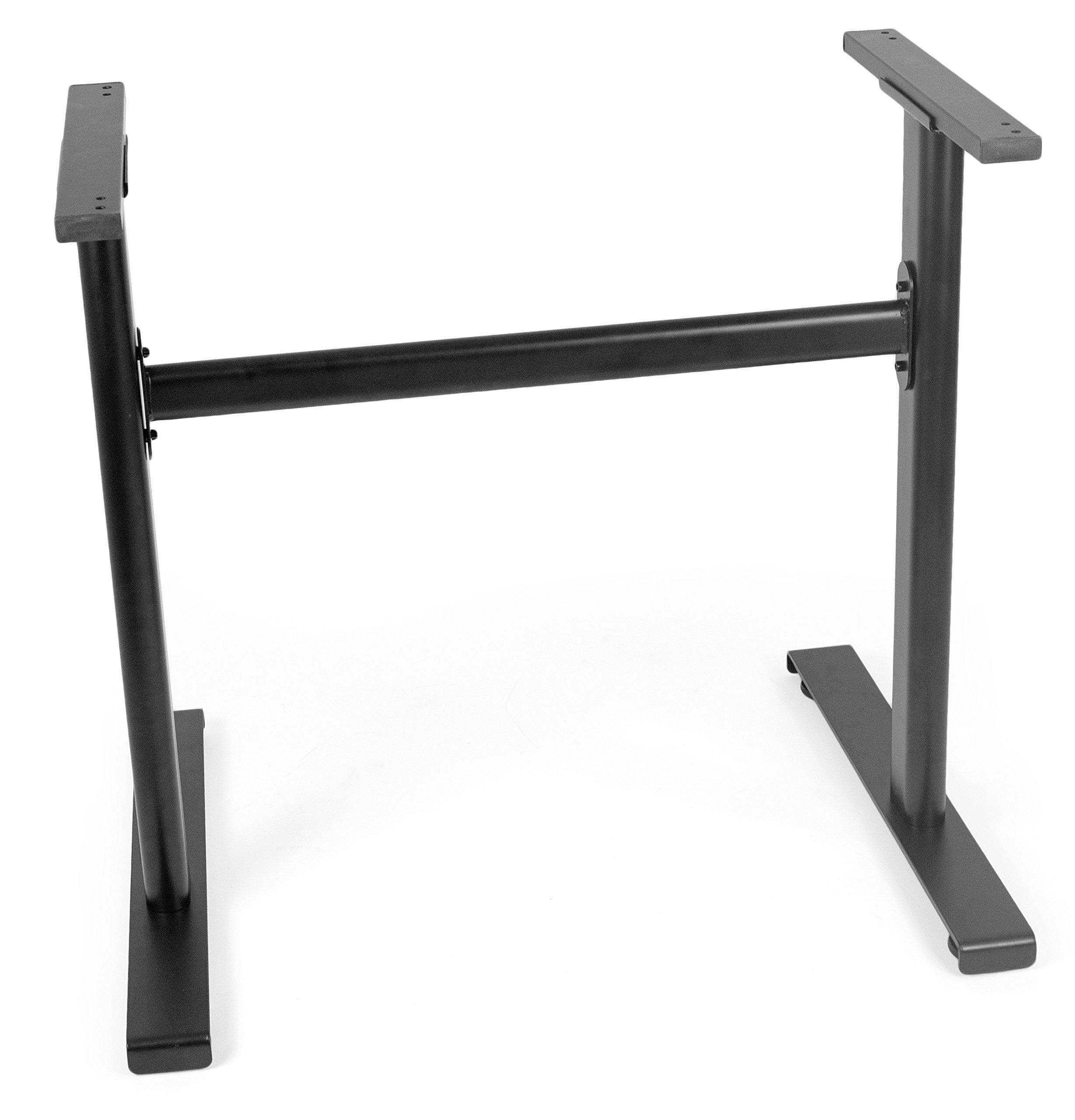 VIVO Black Heavy-Duty Platform Frame Designed for Models DESK-V000K and DESK-V001KE Adjustable Risers   Desk Legs (DESK-LEGS1K)