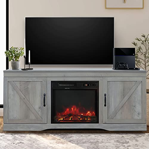 ENSTVER Fireplace TV Stand