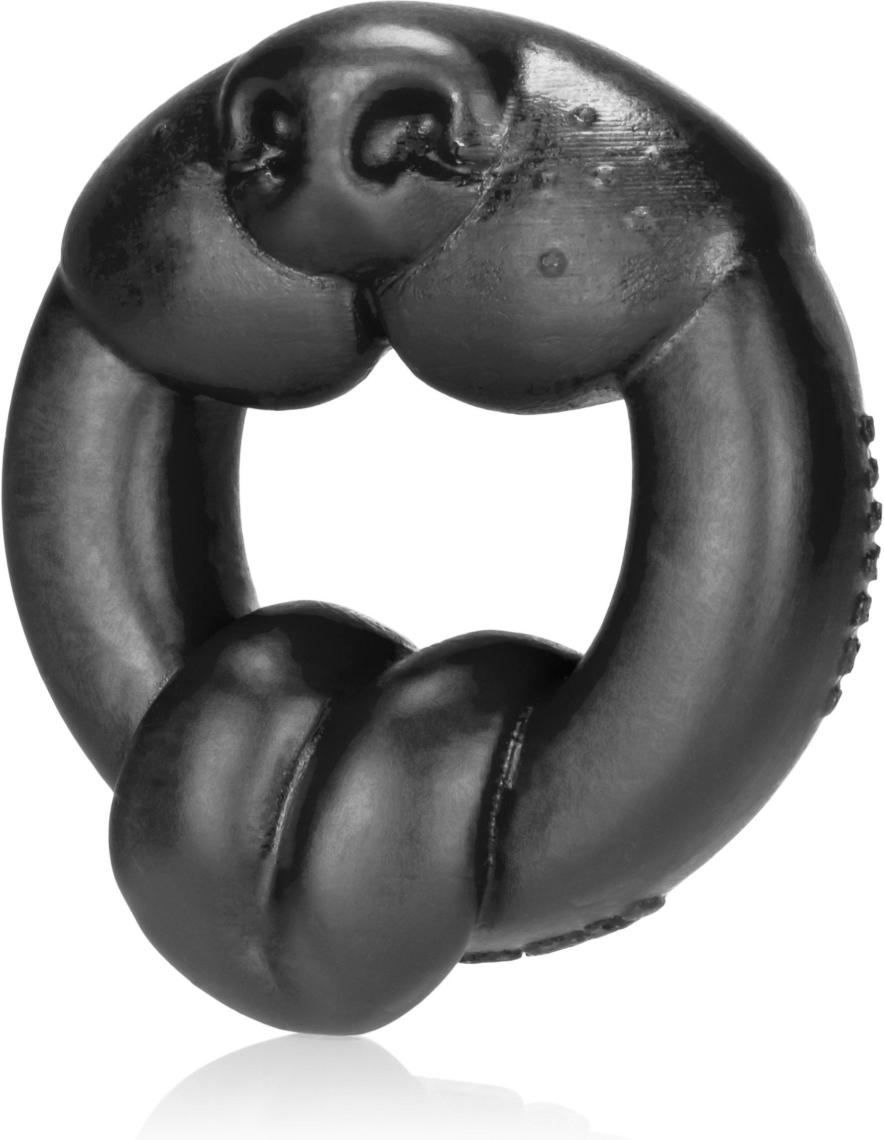 Oxballs Zwart Cock Ring Dog, Black, 67 Gram by Oxballs