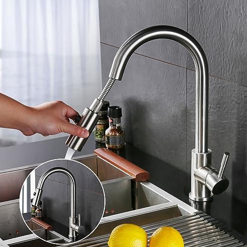 Homelody Einhebelmischer Wasserhahn Küche Armatur Mit Ausziehbar