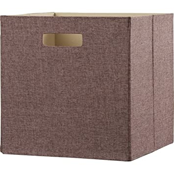 Decorative Storage Fabric Bins, Kids Storage Bin (Brown)
