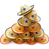 Dozen Straw Cowboy Hats for Kids - Makes Great Birthday Party Hats for Boys and Girls