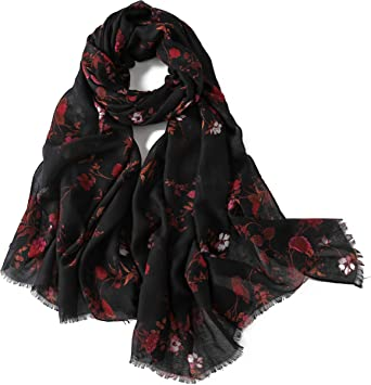 New Ladies Checker Print Black Warm Winter Scarf Shawl Wrap Headscarf Light