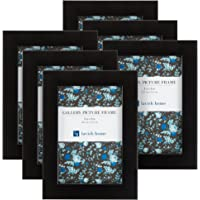Lavish Home 82-FR46B Picture Frame, 4x6, Package of 6 Pieces, Black