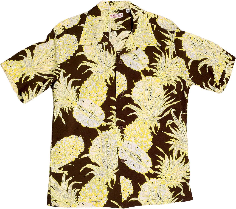 SUN SURF - Camisa Casual - para Hombre marrón marrón Small: Amazon.es: Ropa y accesorios