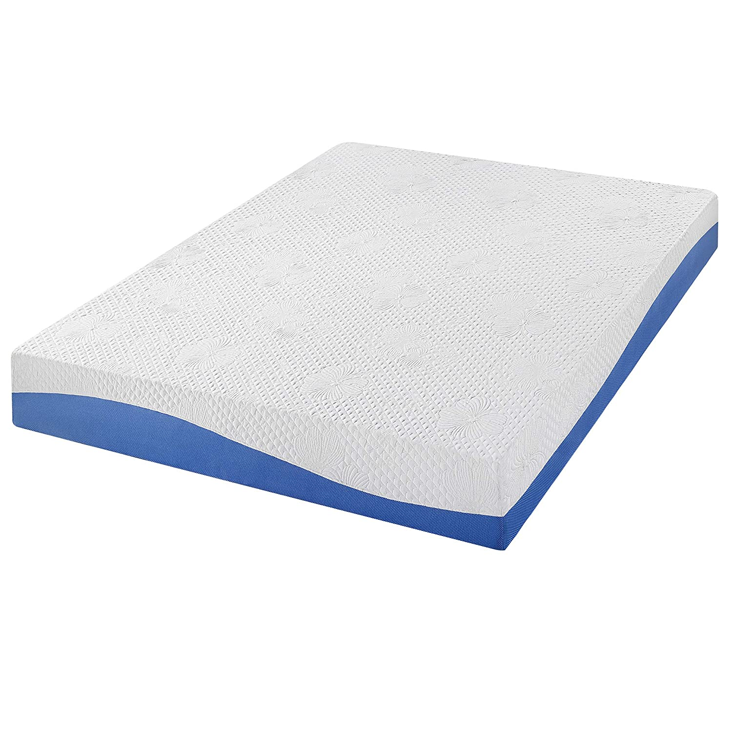 Amazon.com: PrimaSleep Wave Gel Infused Memory Foam Mattress, 10 H, King, Blue: Home & Kitchen