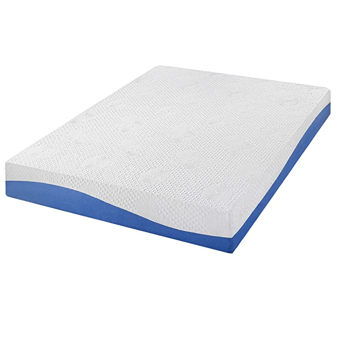 Amazon.com: PrimaSleep Wave Gel Infused Memory Foam Mattress, 10 H, Twin, Blue: Kitchen & Dining