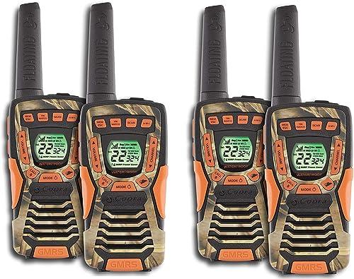 COBRA CXT1045R-FLT 37 Mi Waterproof Floating 2-Way Radio Walkie Talkies 4-Pack