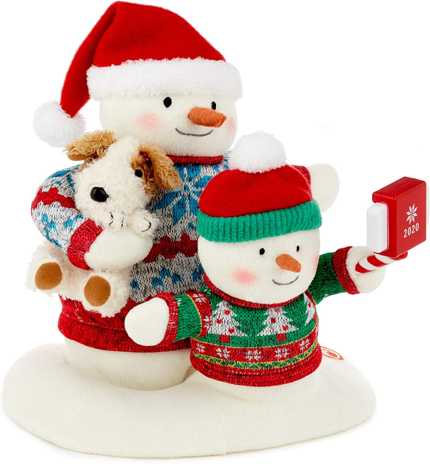 Hallmark Cozy Christmas Selfie Techno Snowman 2020 Singing Stuffed Animal with Light and Motion, 9.5""