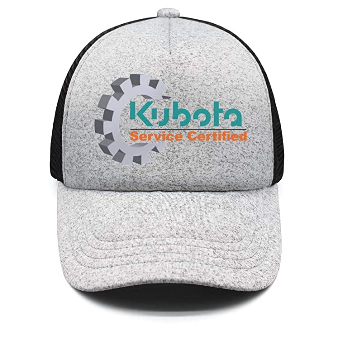4bffaeb3 Amazon.com: Unisex Women Kubota-Grey Mesh Athletic Ball Cap Hat ...