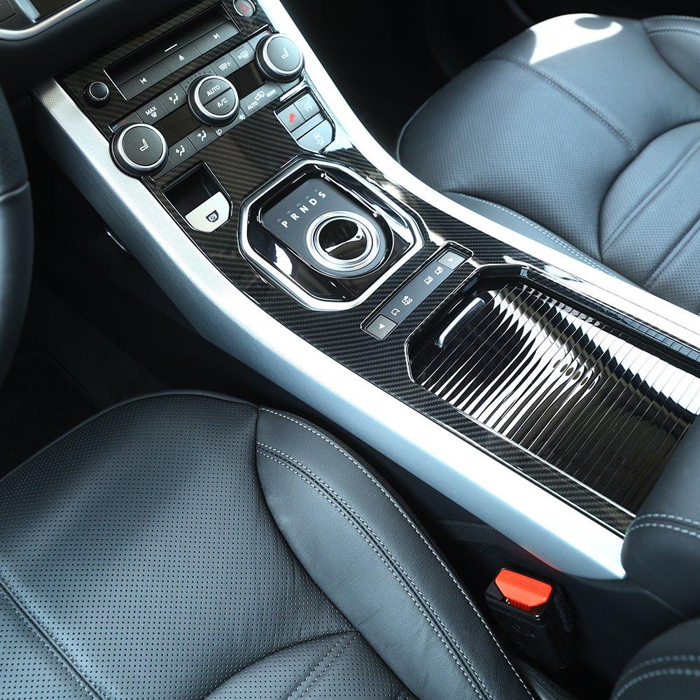 Carbon Fiber ABS Plastic Center Console Gear Panel Decorative Cover Trim For Rangerover Evoque 2012-2017 BEINSTOCK