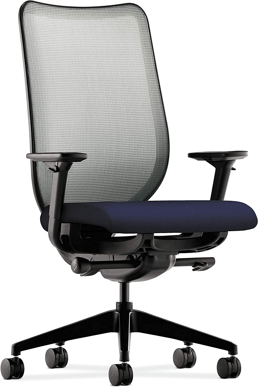 HON Nucleus Task Chair with Mesh Back, (HN1), Fog/Navy