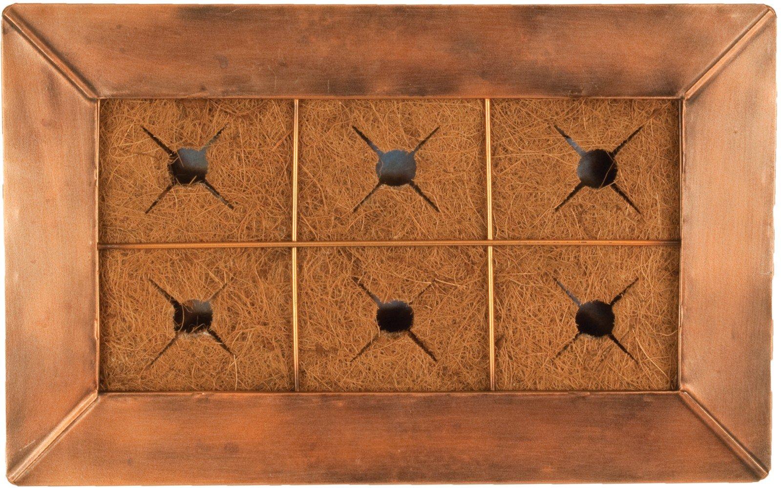 AquaSav 100533985 Small Vertical Wall Planter and Frame, White
