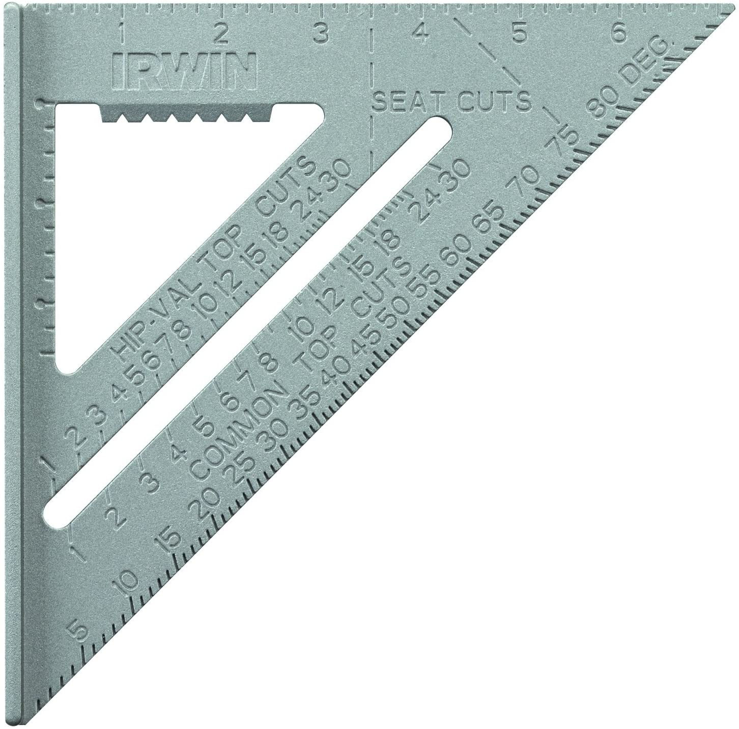 7-Inch 1794463 Hi-Contrast Aluminum IRWIN Tools Rafter Square