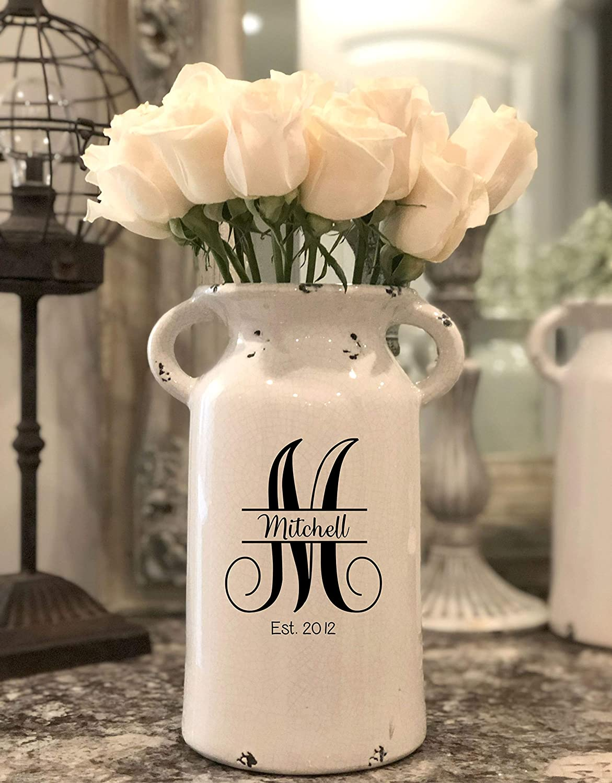 Personalized Wedding Gifts Personalized Milk Can Farmhouse Milk Can Housewarming Gift Personalized Flower Vase Wedding Centerpiece
