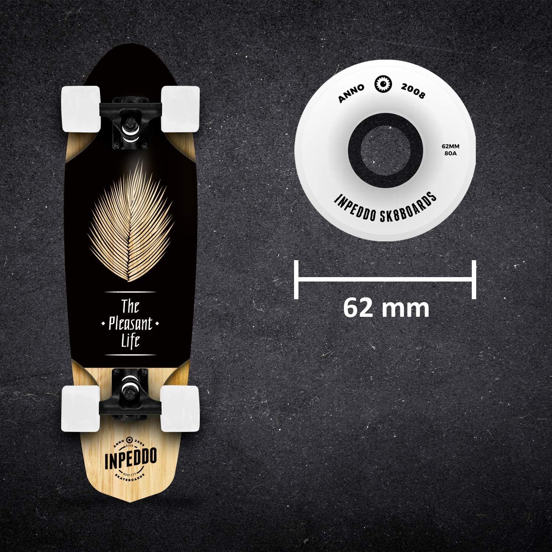 Inpeddo Pleasant Life Holz Cruiser 66 cm 26 Inch Skateboard Komplettboard Mini Deck