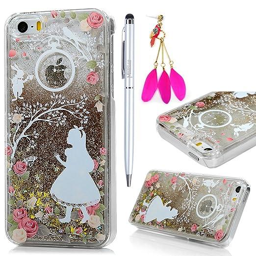 13 opinioni per Cover iPhone 5S, Custodia iPhone 5 / SE, Trasparente Plastica PC Shell 3D Bling
