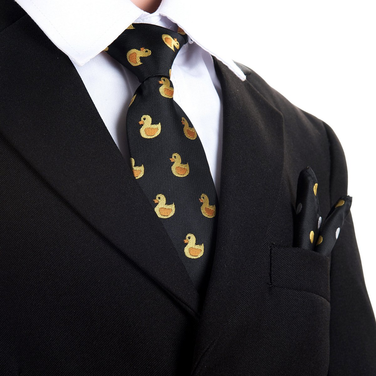 Canacana Paperella di gomma da bambino Pre-Legato cravatta con pois tascabile quadrato set