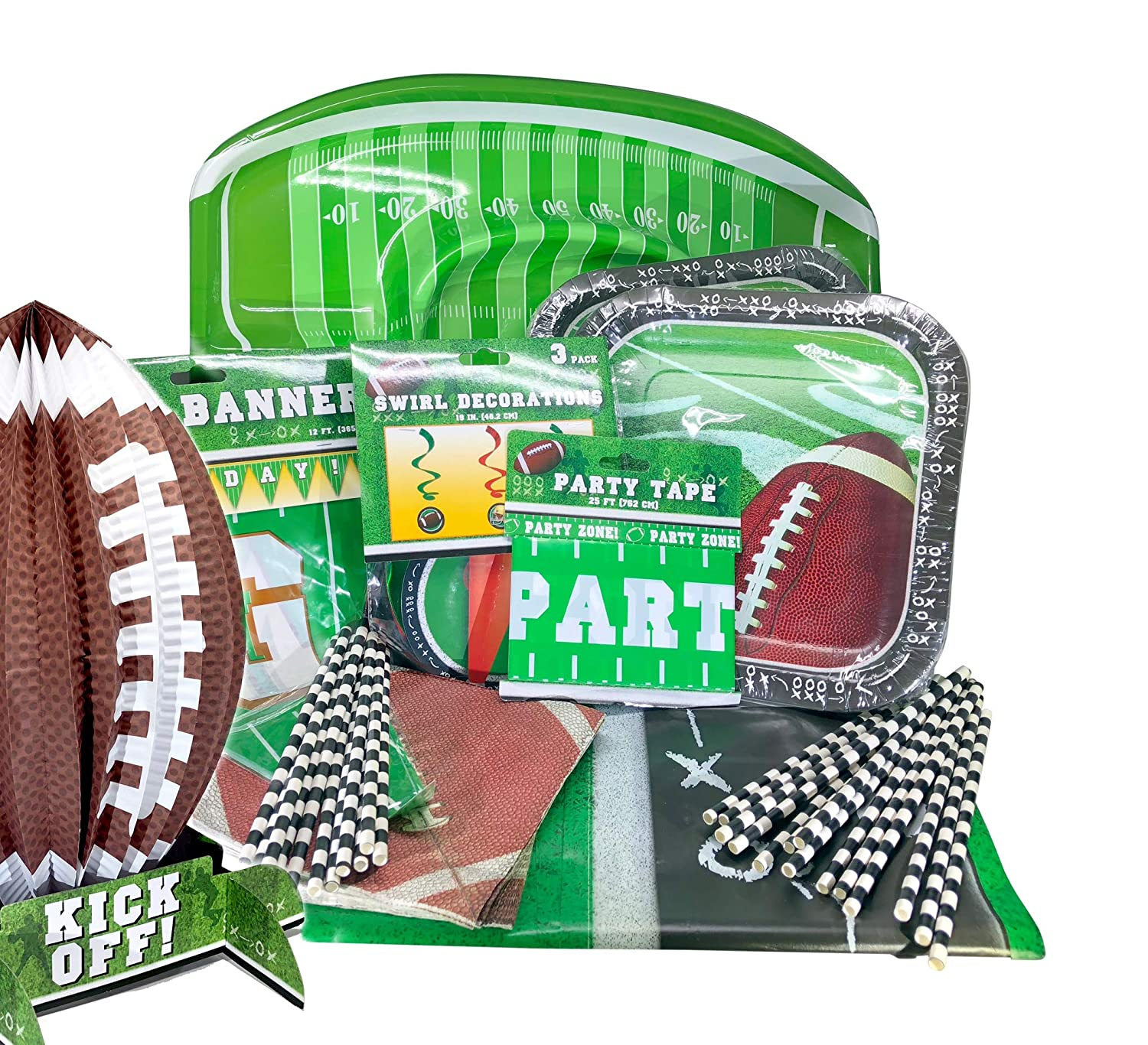 Amazon Com Game Day Football Fan Party Supplies Decorations Pack