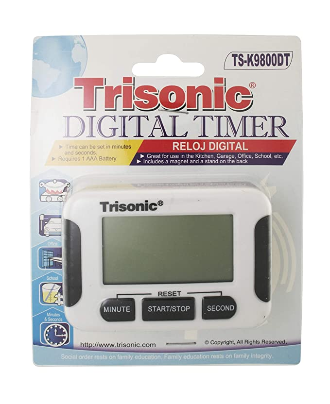 Amazon.com: Trisonic Digital Kitchen Timer with Premium Magnetic Backing, Stand, for Cooking, Baking, Sports, Games, Office, LCD Display, Big Digits, ...