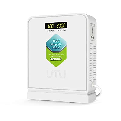 UMI Step Up 110V to 220V Voltage Converter 2000W with Surge Protection for US to EU Transformer: Home & Kitchen