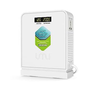 Amazon.com: Umi 110 V/120 V a 220 V convertidor de voltaje ...