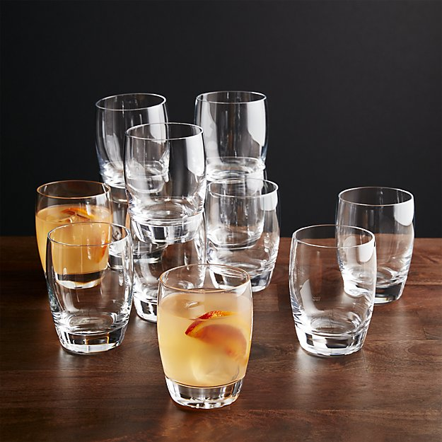 Set of 12 Otis Double Old-Fashioned Glasses   Crate and Barrel