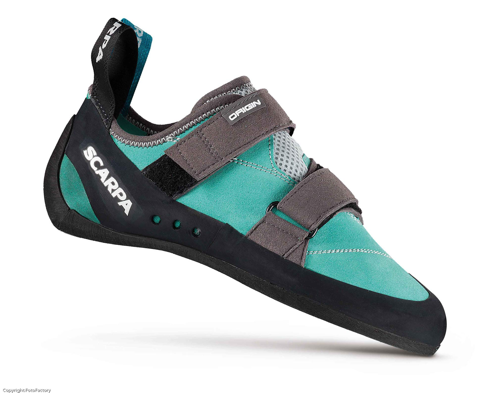 SCARPA Women's Origin WMN Climbing Shoe, Green Blue/Smoke, 38 EU/7 M US by SCARPA