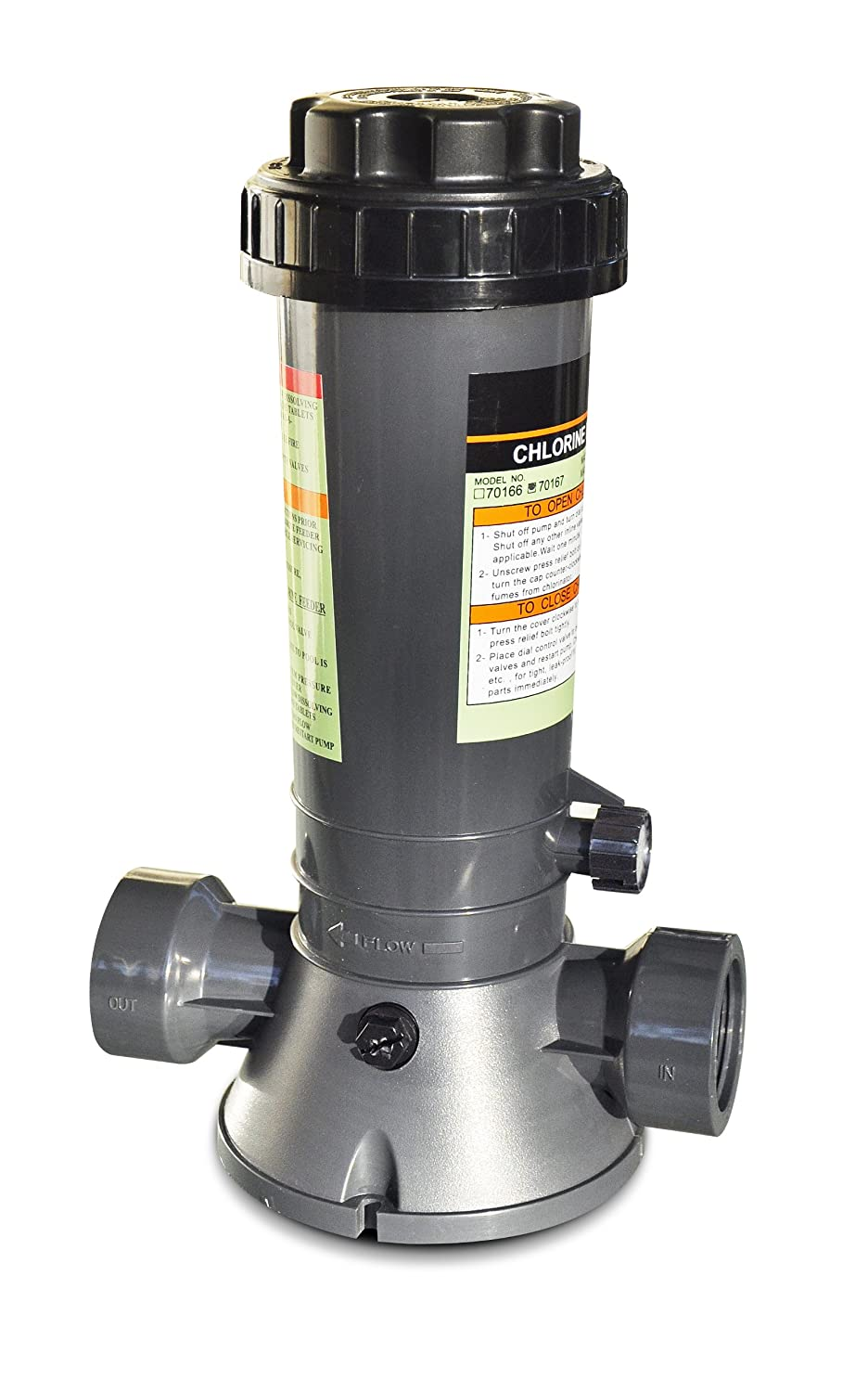Solstice by International Leisure Products Hydro Tools 87501 Economy In-Line Above-Ground Pool Automatic Chlorine Feeder