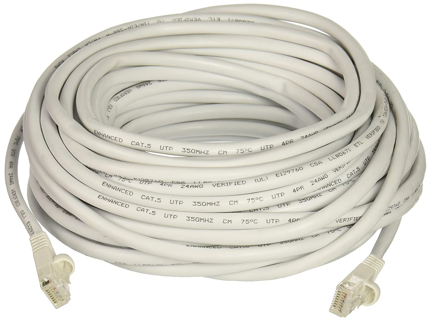 Steren 308-650WH 50-Feet White Molded Cat5E UTP Patch Cable Steren Electronics