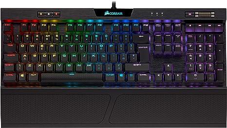 Corsair K70 MK.2 RGB Low Profile Teclado mecánico para Gaming retroiluminación LED RGB, QWERTY Español,Cherry MX Red (Suave y rápido)