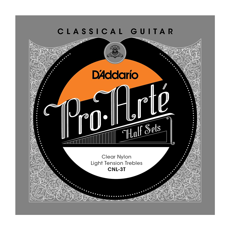 D'Addario CNL-3T Pro-Arte Clear Nylon Classical Guitar Half Set, Light Tension D'Addario &Co. Inc