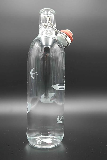 Freiglas Libre de cristal botella 1l 100% plastikfrei ...