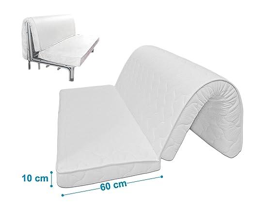 Baldiflex Brio Colchón para Sofá Cama, con Pliegue para el Asiento, ortopédico, ergonómico e hipoalergénico Medida 160x190 cm