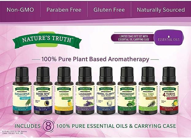 Natures Truth Aromaterapia Aceites Esenciales (8-Pack): Amazon.es ...