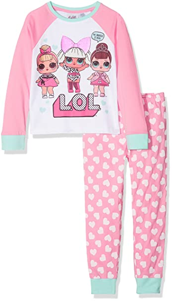 LOL Surprise Fancy, Sis Swing and Diva, Conjuntos de Pijama para Niñas, Rosa