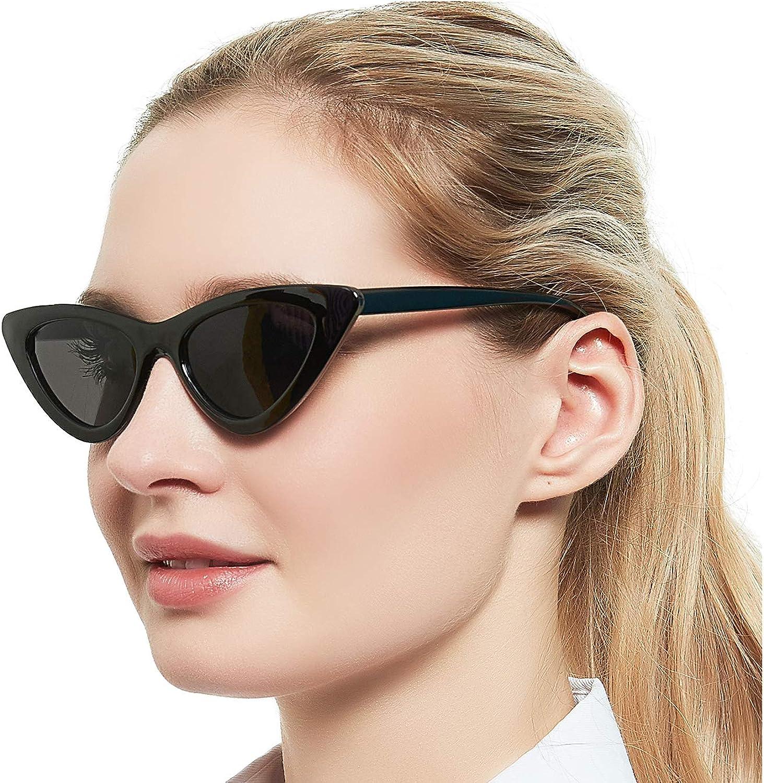 Cat Eye Vintage Small Frame Sunglasses Women Rectangle Jelly Color Sun Glasses