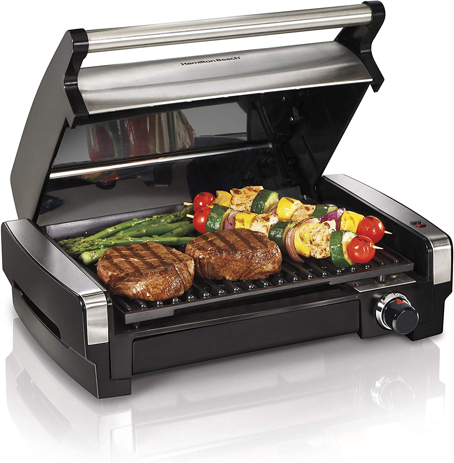 Hamilton Beach Electric Indoor Searing Grill Easy Removable