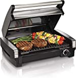 Hamilton Beach Electric Indoor Searing Grill Removable Easy-To-Clean Nonstick Plate, 6-Serving,