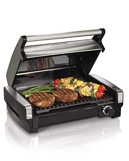 Groovy Hamilton Beach 25360 Indoor Searing Grill With Removable Easy To Clean Nonstick Plate Extra Large Drip Tray Stainless Steel Interior Design Ideas Jittwwsoteloinfo