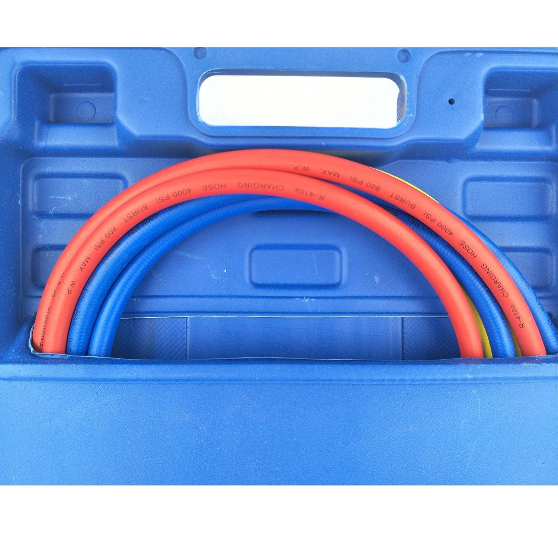 Wisepick AC Manifold Gauge Set R1234YF 3 Ways HVAC Air Conditioning Refrigerant Diagnostic Tool Kit