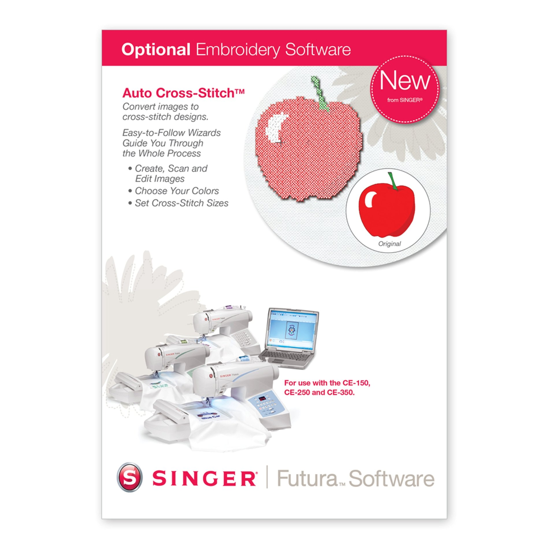 SINGER Futura Auto Cross-Stitch Software for CE-150 and CE-250 by SINGER