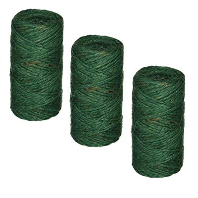 Bond 337 Jute Twine, Green, 200-Feet Length - 3 Pack : Office Products