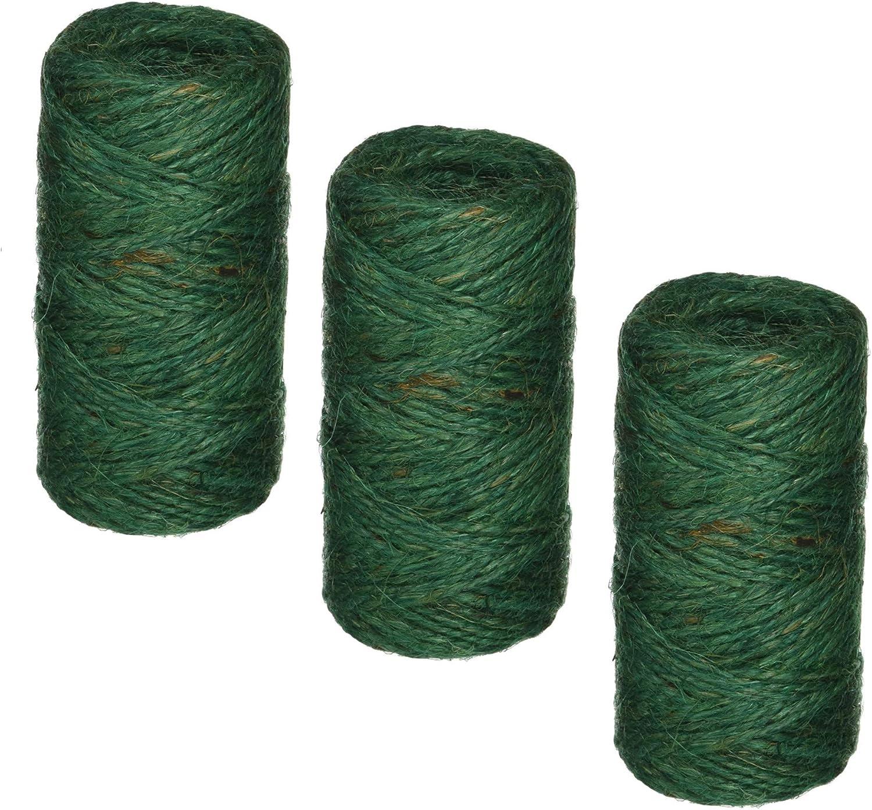 Bond 337 Jute Twine, Green, 200-Feet Length - 3 Pack