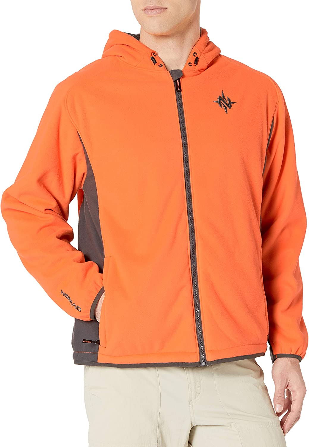 Nomad Men's Harvester Full Zip Hoodie | Wind & Water Resistant Sherpa Fleece Hooded