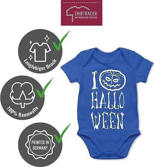 Halloween Baby Kurzarm Baby-Shirt f/ür Jungen und M/ädchen Shirtracer I am Bootiful