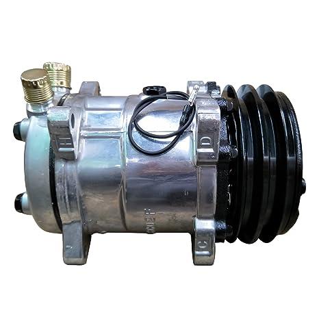 Universal a/c compresor con negro 2pk embrague Sanden 508 5h14 R134 a